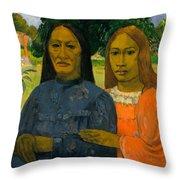 Two Women Throw Pillow