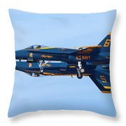 U S Navy Blue Angeles, Formation Flying Throw Pillow