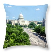 United States Capitol Building Throw Pillow