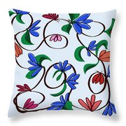 untitled  Floral Throw Pillow