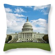 Us Capitol Washington Dc Negative Throw Pillow
