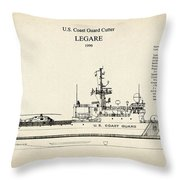 U.s. Coast Guard Cutter Legare Throw Pillow