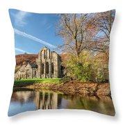 Valle Crucis Abbey  Throw Pillow