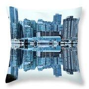 Vancouver Skyline Canada Throw Pillow