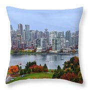 Vancouver In Fall Throw Pillow