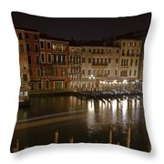 Venice By Night Throw Pillow by Joana Kruse