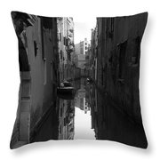 Venice Canal Throw Pillow