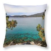 View Across Lake Tahoe Throw Pillow