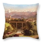 views of Bern and the Bernese Oberland Throw Pillow