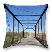 Vintage Steel Girder Bridge Throw Pillow