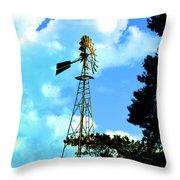Vintage Windmill Throw Pillow