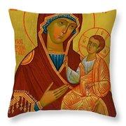 Virgin And Child Art Throw Pillow