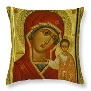 Virgin And Child Icon Throw Pillow