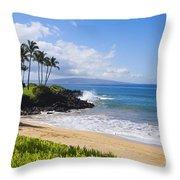 Wailea, Ulua Beach Throw Pillow
