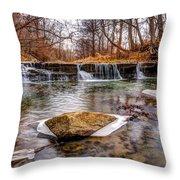 Walnut Creek Waterfall Throw Pillow