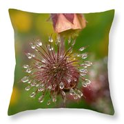 Water Avens Throw Pillow