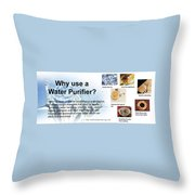 Water Dispenser Singapore Throw Pillow