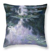 Water Lilies Nympheas Throw Pillow