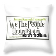 We The People Of The United States Of America Throw Pillow