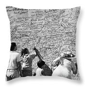 We The People Signing Bicentennial Of The Constitution Tucson Arizona 1987 Throw Pillow
