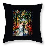 Wedding Under The Rain Throw Pillow