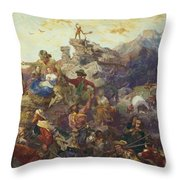 Westward The Course Of Empire Takes Its Way Throw Pillow