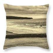 Whitby Harbor Throw Pillow