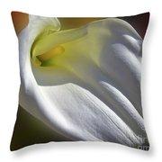 White Calla Throw Pillow
