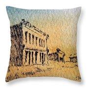 White Oaks Ghost Town New Mexico Throw Pillow