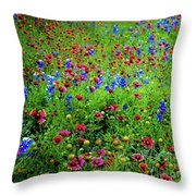 Wildflowers In Bloom Throw Pillow