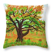 Willow Tree, Painting Throw Pillow