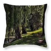 Willows And Oaks Throw Pillow
