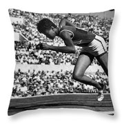 Wilma Rudolph (1940-1994) Throw Pillow by Granger