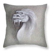 Wise Dragon Throw Pillow