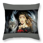Wolf Totem Throw Pillow