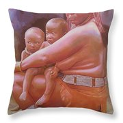 Woman Of Substance Throw Pillow