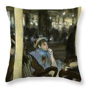 Women On A Cafe Terrace Throw Pillow