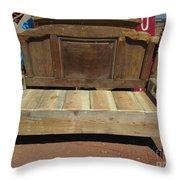Wooden Bench Throw Pillow