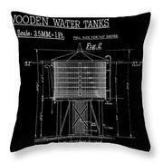Wooden Water Tanks Throw Pillow