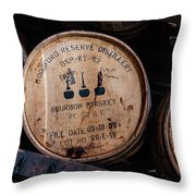 Woodford Reserve Barrels Throw Pillow