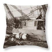 World War I: Zeppelin Throw Pillow