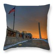 World War II Memorial Sunrise Throw Pillow