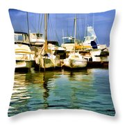 Yacht Club Throw Pillow