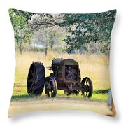 Rolling On Stone Throw Pillow
