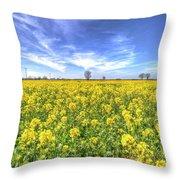 Yellow Fields Of Summer Throw Pillow