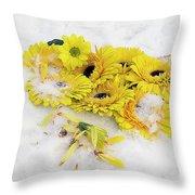 Yellow Gerbers Throw Pillow