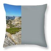 Yosemite National Park Hiking Throw Pillow