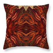 Zebra And Jewels Throw Pillow