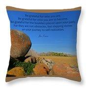 20- Be Grateful Throw Pillow
