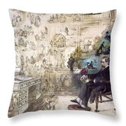 Charles Dickens 1812-1870.  To License For Professional Use Visit Granger.com Throw Pillow